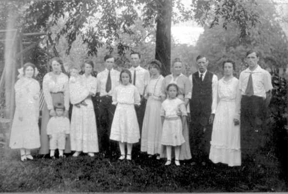 Adams family in Crete, Illinois