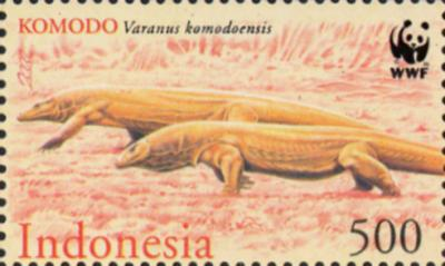 Indonesia Komodo Dragon World Stamps Pictures