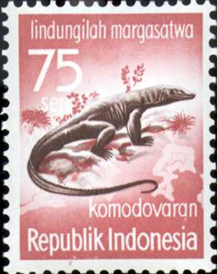 World Stamps Pictures - Indonesia Komodo Dragon Stamps