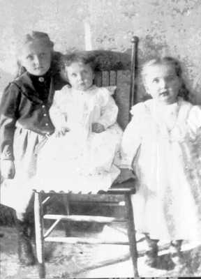 Cora, Ruby, and Hattie Adams