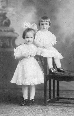 Margaret Adele Burns and Grace Evelyn Burns